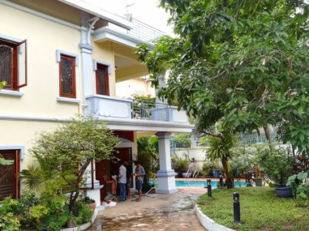 A Beautiful France Style Villa For Rent Is Located In Tonle Bassac, Phnom Penh