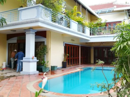 A Beautiful France Style Villa For Sale Is Located In Tonle Bassac, Phnom Penh